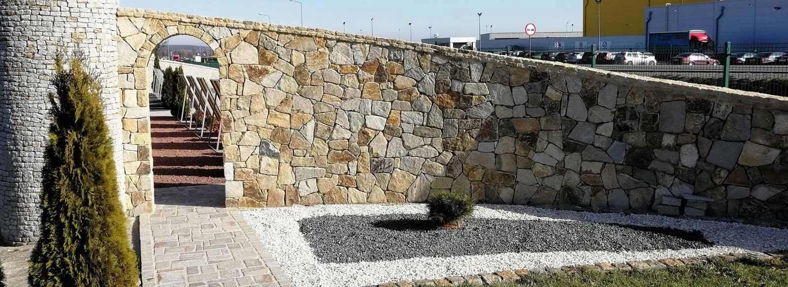 Ogrodzenia granitowe - granit Strzegom