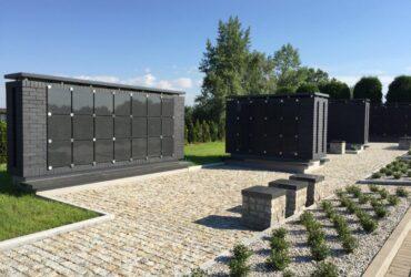 Granitowe Kolumbarium na terenie Cmentarza Komunalnego w Oświęcimiu